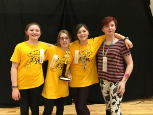 Trophy winners of the Odyssey of the mind competition